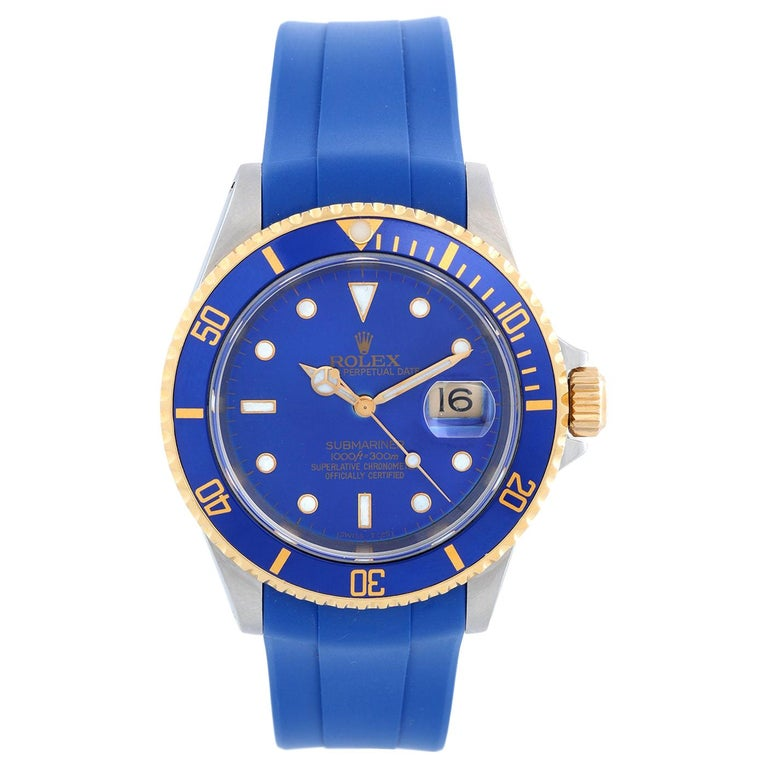 Rolex Submariner 2-Tone Steel and Gold Men's Watch 16613 For Sale