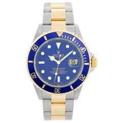 Rolex Submariner 2-Tone Steel and Gold Men's Watch 16613