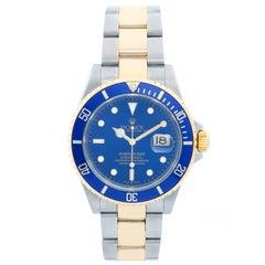 Rolex Submariner 2-Tone Steel and Gold Men's Watch 16613