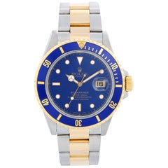 Rolex Submariner 2-Tone Steel and Gold Men's Watch Transitional Model 16803