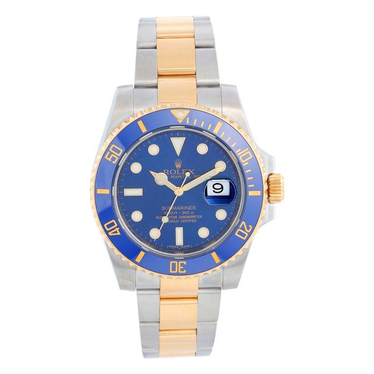 Rolex Submariner 2-Tone Steel & Gold Men's Watch 116613 For Sale