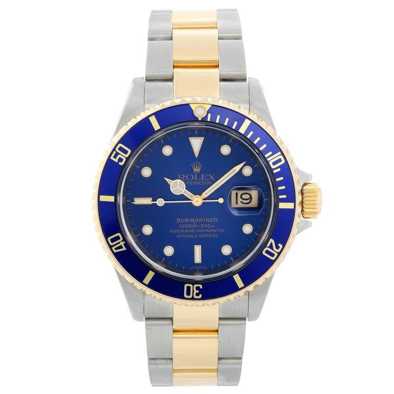 Rolex Submariner 2-Tone Steel & Gold Men's Watch 16613 For Sale