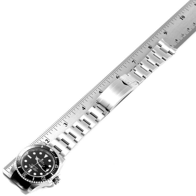 Rolex Submariner 40 Cerachrom Bezel Black Dial Watch 116610 Box Card For Sale 6