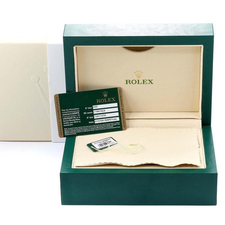 Rolex Submariner 40 Cerachrom Bezel Black Dial Watch 116610 Box Card 7