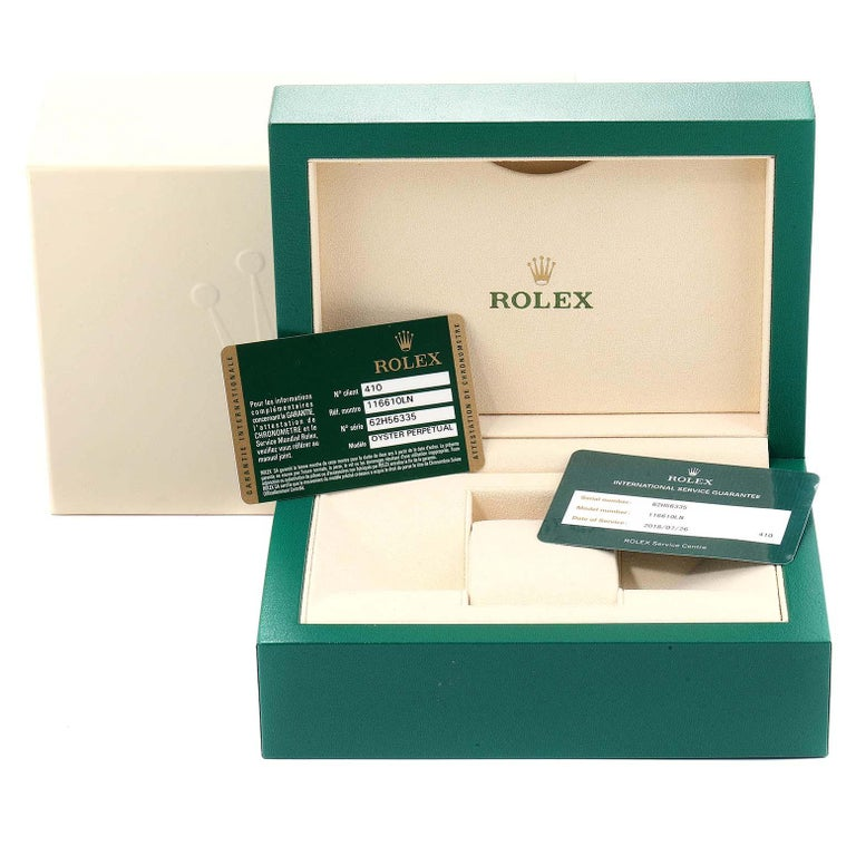 Rolex Submariner 40 Cerachrom Bezel Black Dial Watch 116610 Box Card For Sale 7