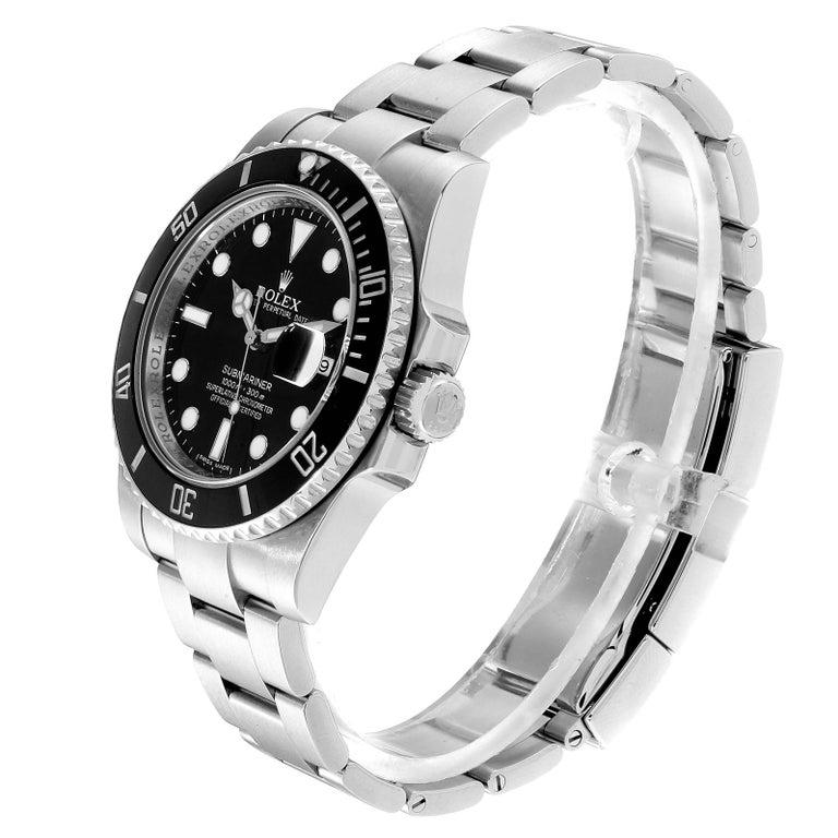 Rolex Submariner 40 Cerachrom Bezel Black Dial Watch 116610 Box Card In Excellent Condition In Atlanta, GA
