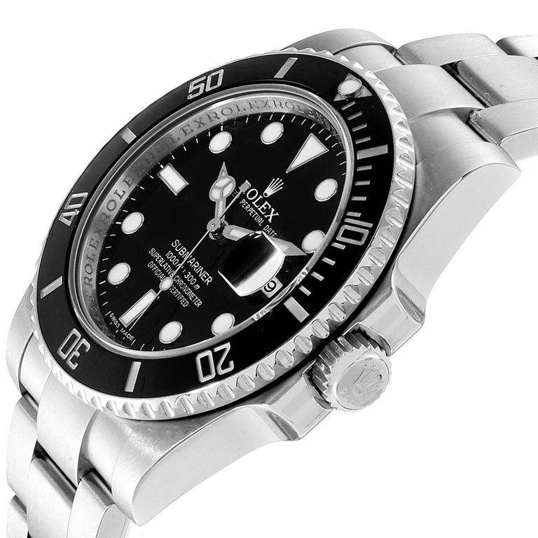 Rolex Submariner 40 Cerachrom Bezel Black Dial Watch 116610 Box Card 1