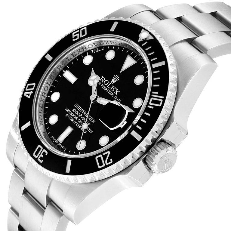 Rolex Submariner 40 Cerachrom Bezel Black Dial Watch 116610 Box Card For Sale 1