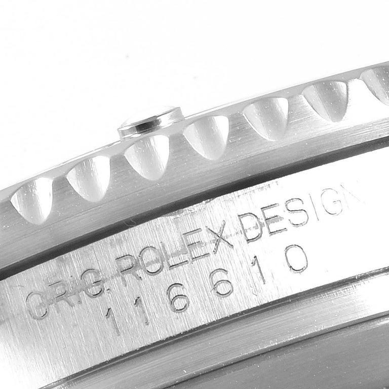 Rolex Submariner 40 Cerachrom Bezel Black Dial Watch 116610 Box Card 3