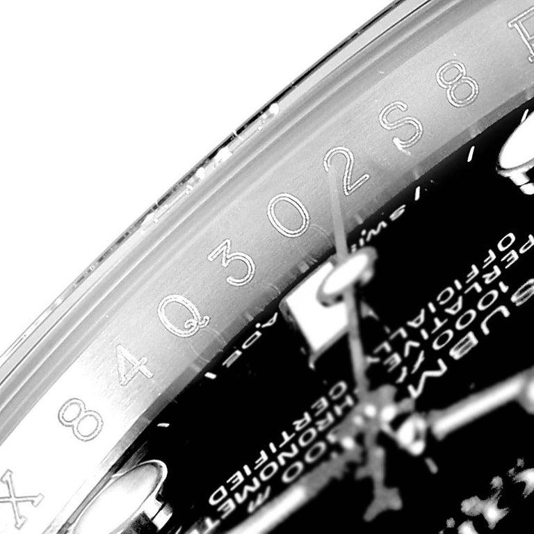 Rolex Submariner 40 Cerachrom Bezel Black Dial Watch 116610 Box Card For Sale 3