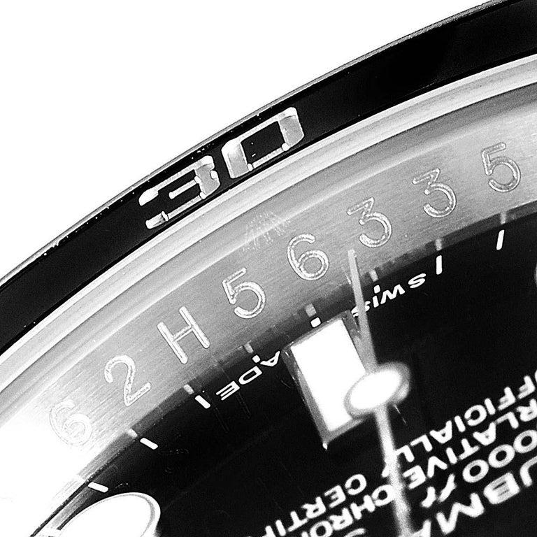 Rolex Submariner 40 Cerachrom Bezel Black Dial Watch 116610 Box Card For Sale 4