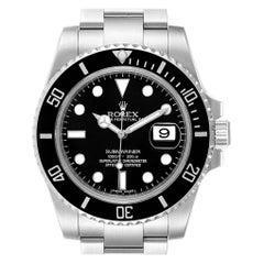 Rolex Submariner 40 Cerachrom Bezel Black Dial Watch 116610 Box Card