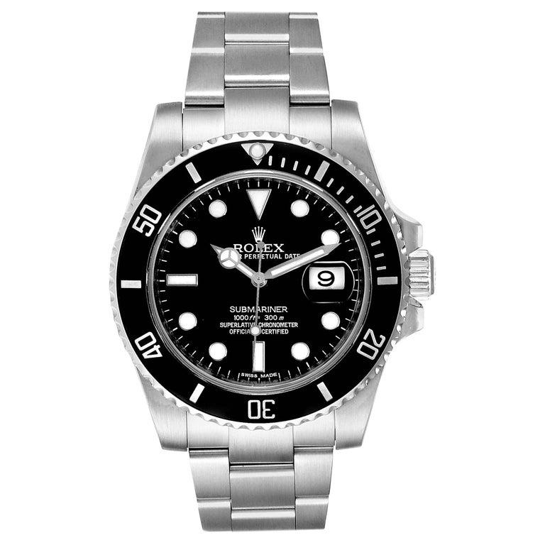 Rolex Submariner 40 Cerachrom Bezel Black Dial Watch 116610 Box Card