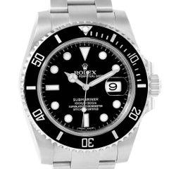 Rolex Submariner 40 Cerachrom Bezel Black Dial Watch 116610 Box