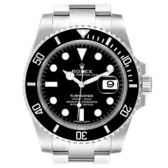 Rolex Submariner 40 Cerachrom Bezel Black Dial Watch 116610 Unworn