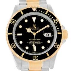 Rolex Submariner 40 Two-Tone Steel Yellow Gold Men's Watch 16613
