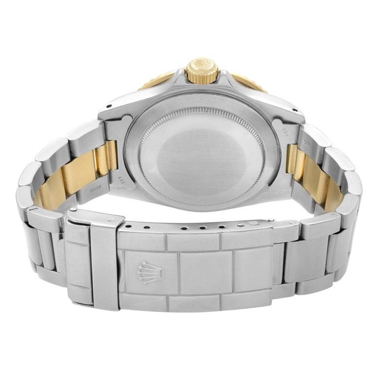 Rolex Submariner 18k Yellow Gold Steel Serti Dial Automatic Men Watch 16803 1