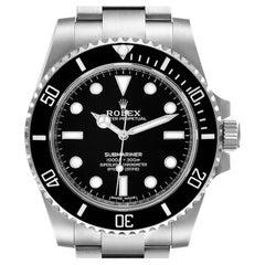 Rolex Submariner Black Dial Ceramic Bezel Steel Watch 114060 Unworn