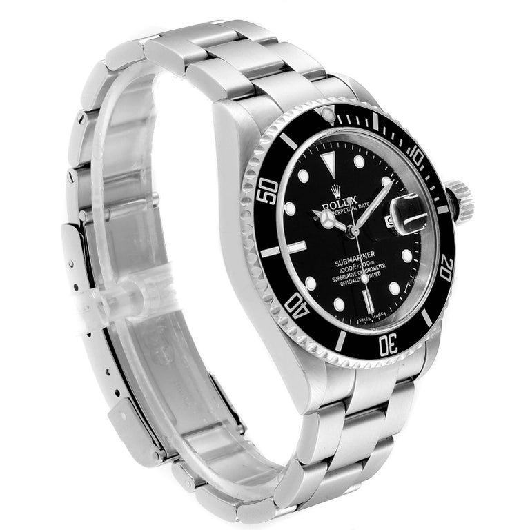 Rolex Submariner Black Dial Steel Men's Watch 16610 Box 1