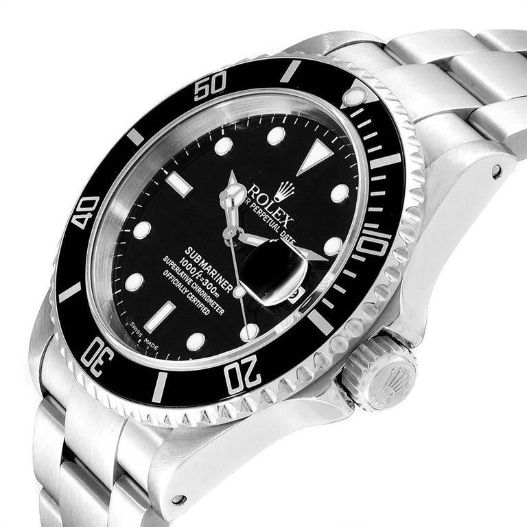 Rolex Submariner Black Dial Steel Men's Watch 16610 Box 1