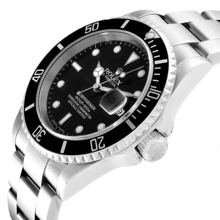 Rolex Submariner Black Dial Steel Men's Watch 16610 Box 2