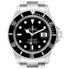 Rolex Submariner 40mm Black Dial Steel Men's Watch 16610 Box