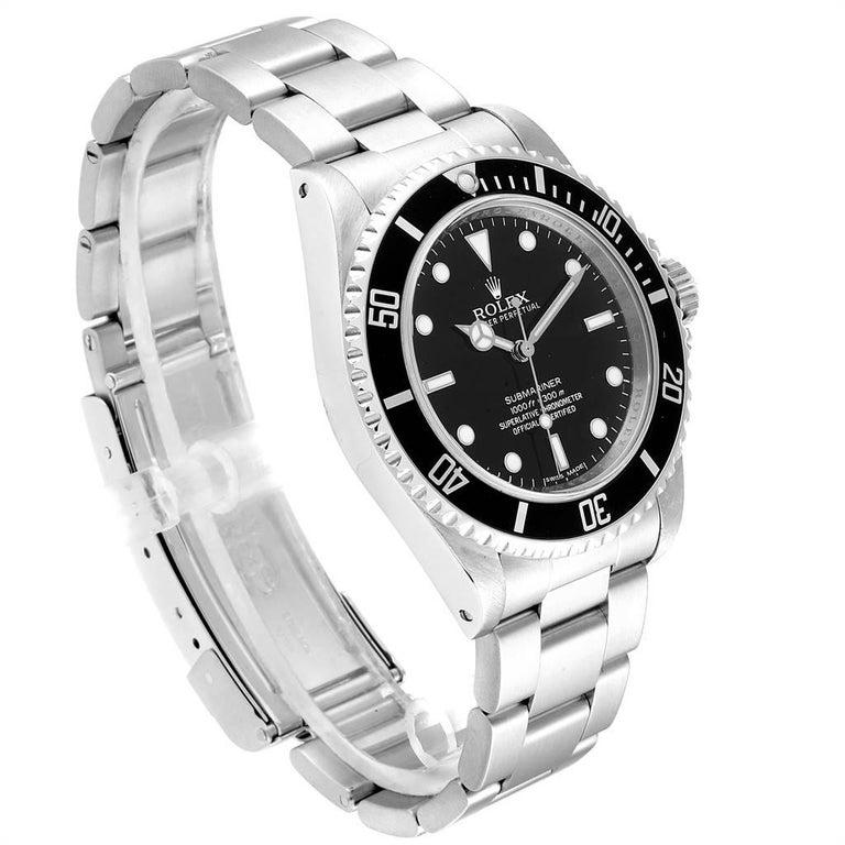 Rolex Submariner Non-Date 4 Liner Steel Steel Men's Watch 14060 In Excellent Condition For Sale In Atlanta, GA
