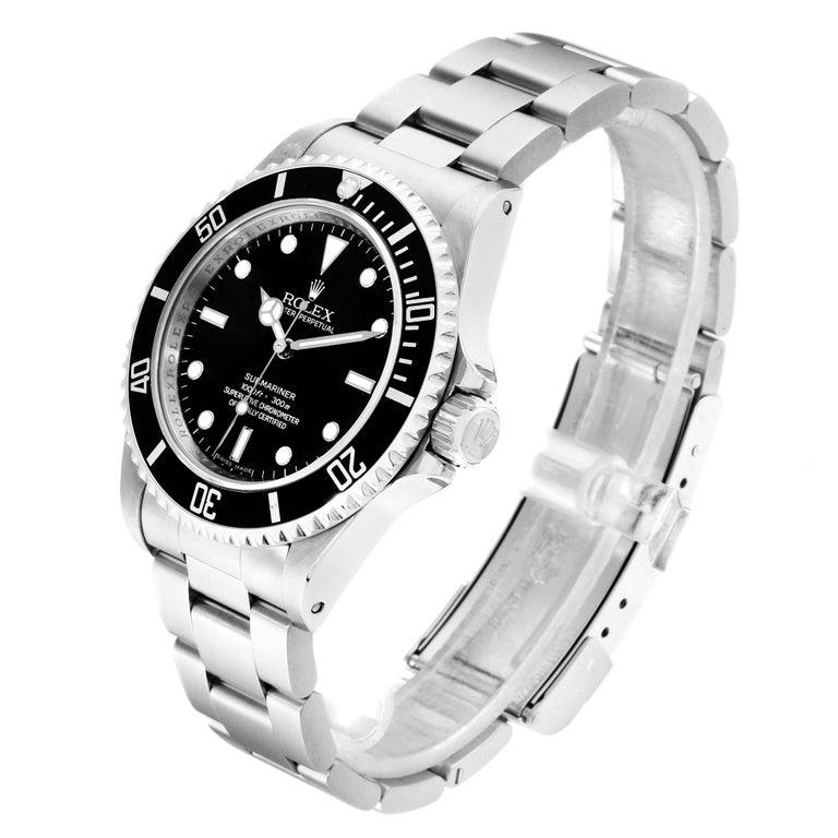 Men's Rolex Submariner Non-Date 4 Liner Steel Men's Watch 14060 For Sale