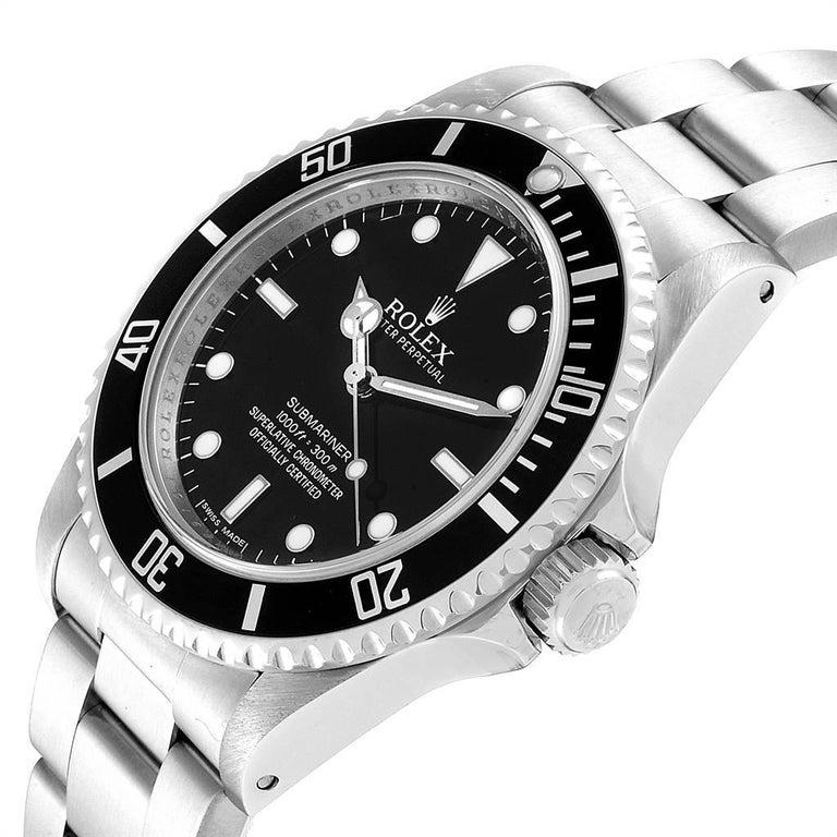 Rolex Submariner Non-Date 4 Liner Steel Steel Men's Watch 14060 For Sale 2