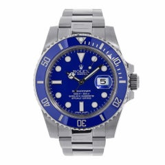 Rolex Submariner White Gold Blue Ceramic Watch 116619