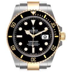 Rolex Submariner 41 Steel Yellow Gold Black Dial Mens Watch 126613 Unworn