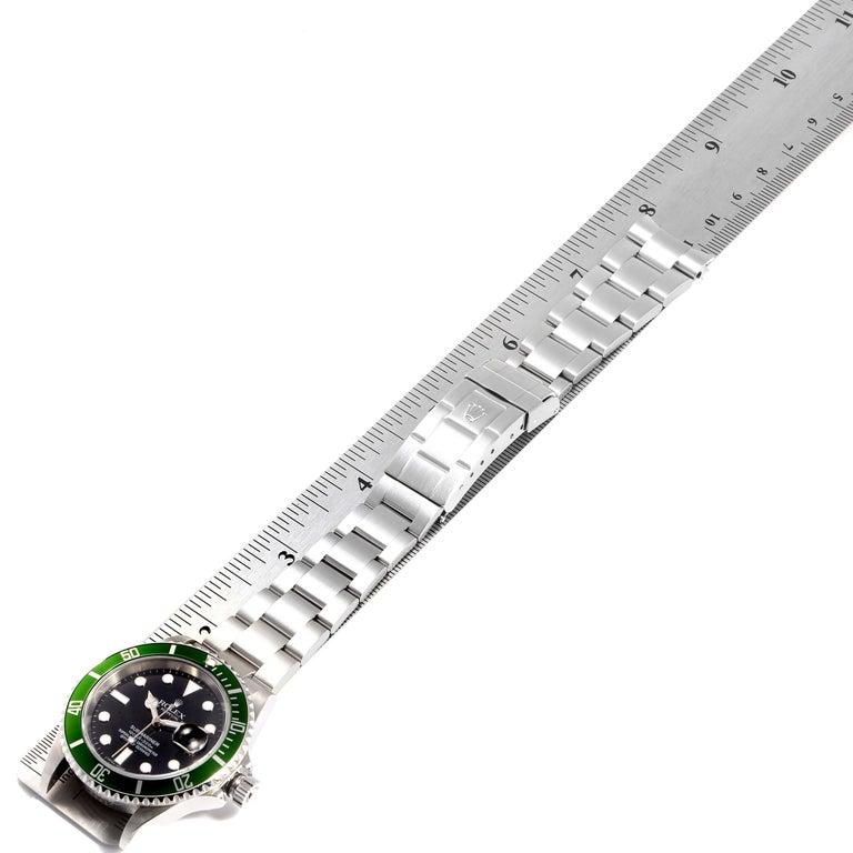 Rolex Submariner 50th Anniversary Green Kermit Men's Watch 16610LV 7