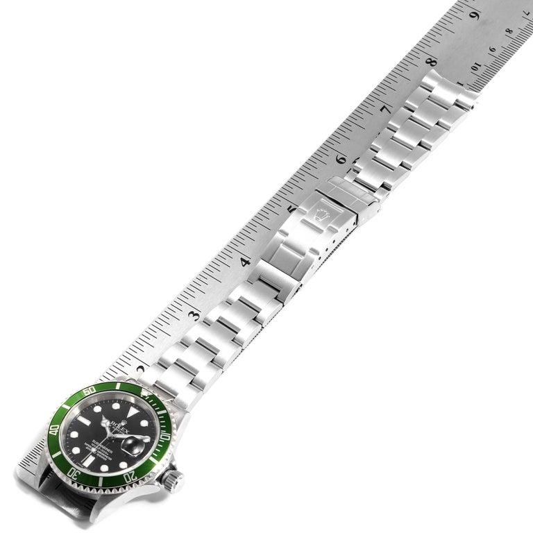 Rolex Submariner 50th Anniversary Green Kermit Men's Watch 16610LV For Sale 7
