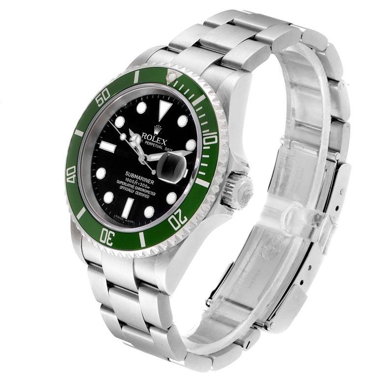 Rolex Submariner 50th Anniversary Green Kermit Men's Watch 16610LV In Excellent Condition In Atlanta, GA