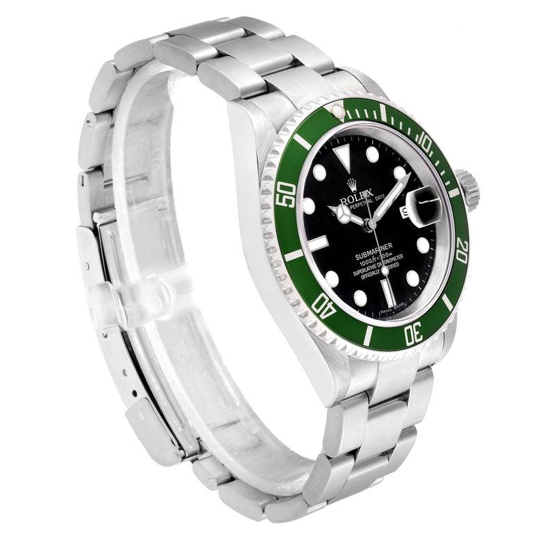 Rolex Submariner 50th Anniversary Green Kermit Men's Watch 16610LV In Excellent Condition For Sale In Atlanta, GA