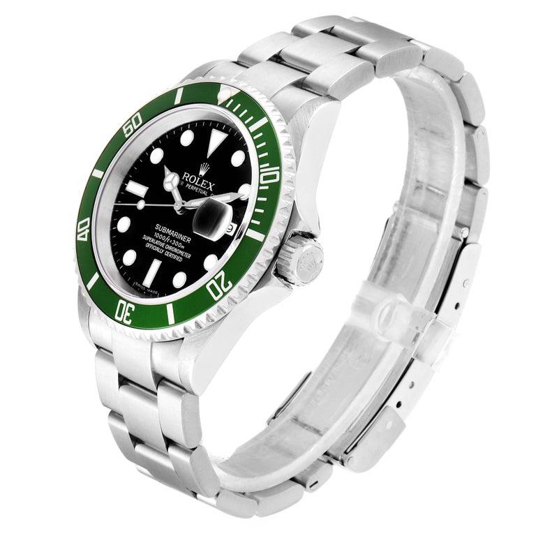 Rolex Submariner 50th Anniversary Green Kermit Men's Watch 16610LV For Sale 1