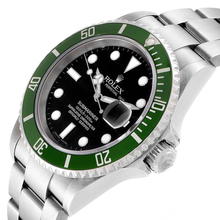 Rolex Submariner 50th Anniversary Green Kermit Men's Watch 16610LV 2