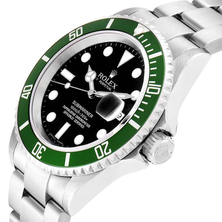 Rolex Submariner 50th Anniversary Green Kermit Men's Watch 16610LV For Sale 2