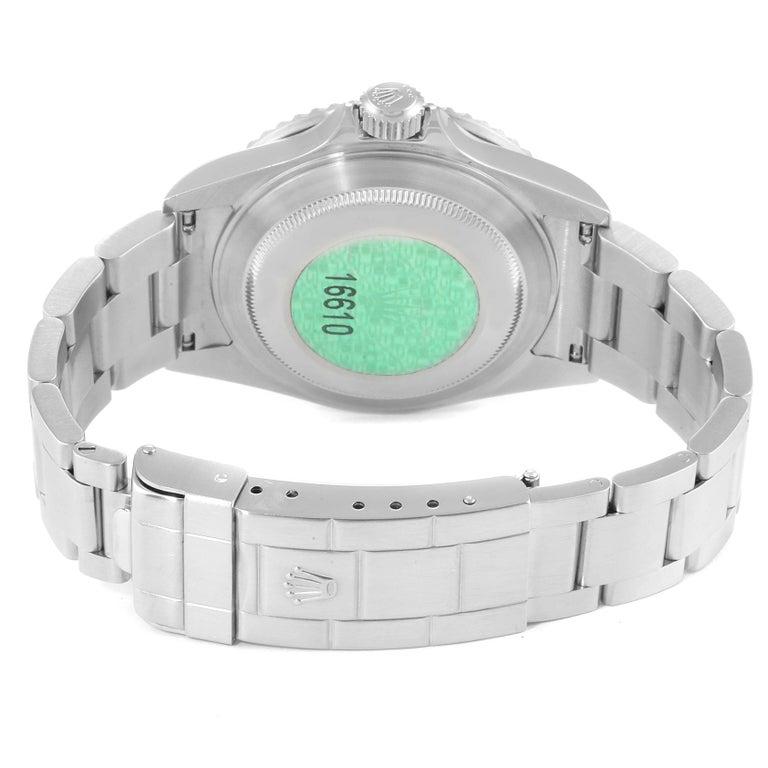 Rolex Submariner 50th Anniversary Green Kermit Men's Watch 16610LV 6