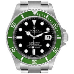 Rolex Submariner 50th Anniversary Green Kermit Steel Watch 16610LV Box Papers