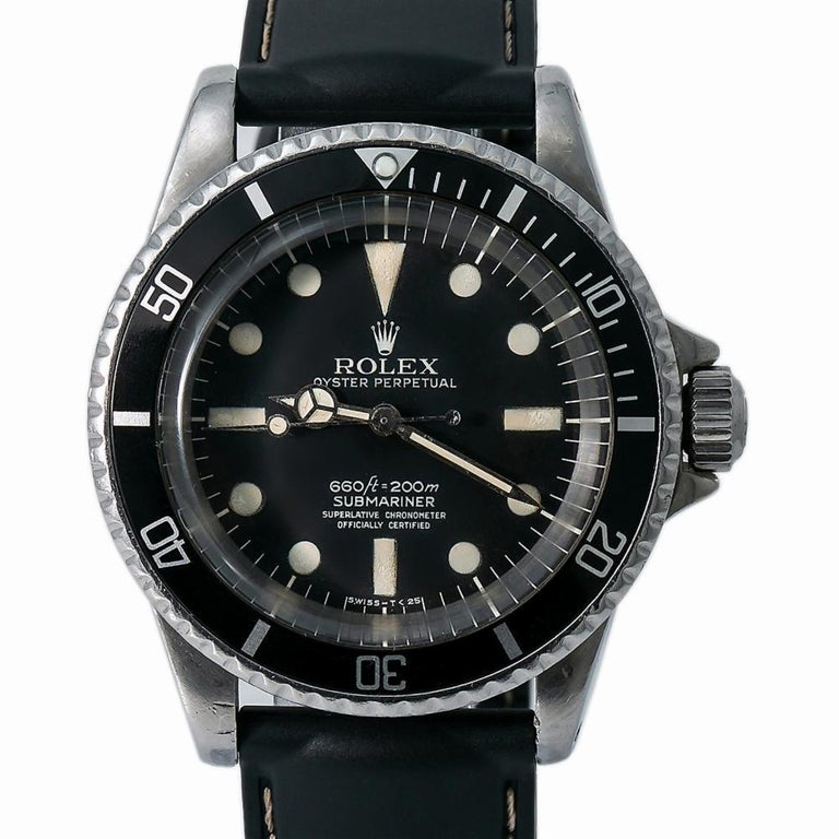 Rolex Submariner 5512, White Dial, Certified and Warranty In Good Condition For Sale In Miami, FL