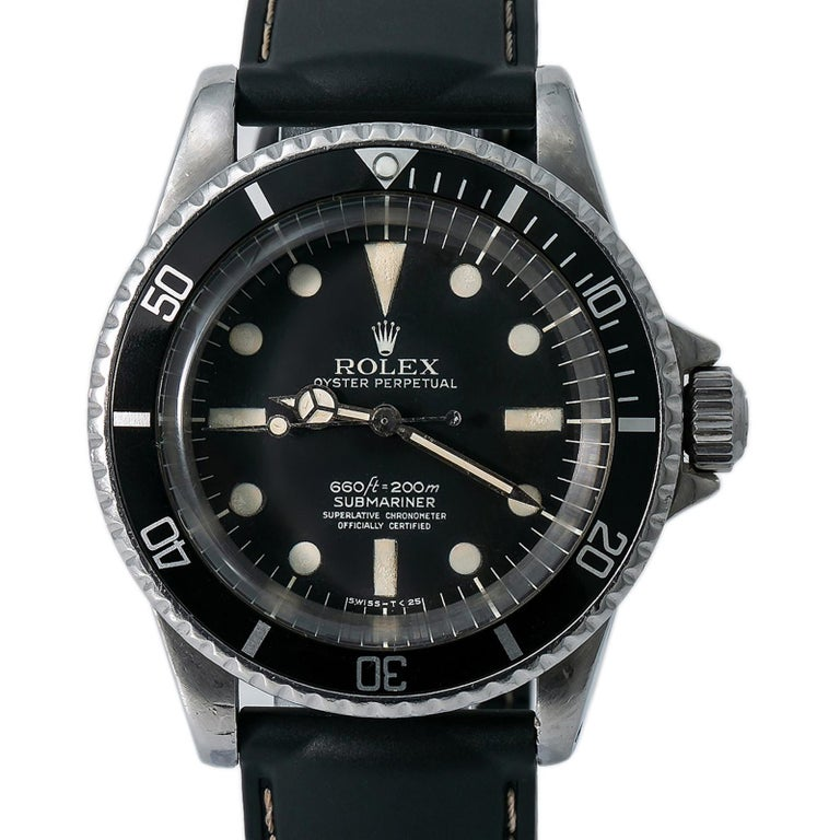 Rolex Submariner 5512, Case, Certified and Warranty In Good Condition For Sale In Miami, FL