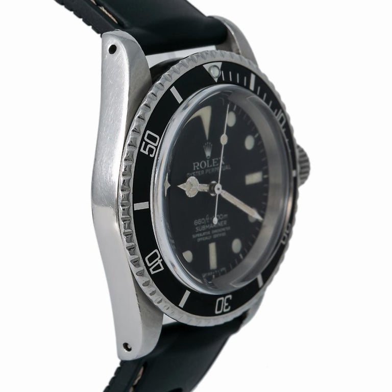 Contemporary Rolex Submariner 5512, Black Dial, Certified and Warranty For Sale