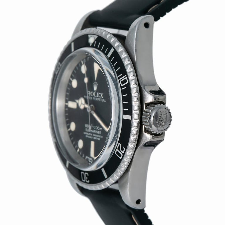 Rolex Submariner 5512, Black Dial, Certified and Warranty For Sale 1