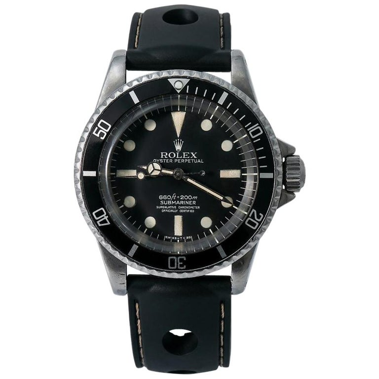 Rolex Submariner 5512, Black Dial, Certified and Warranty For Sale