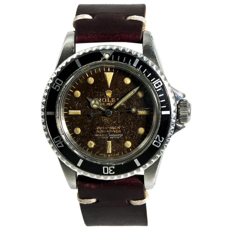 Rolex Submariner 5512, Brown Dial, Certified and Warranty For Sale