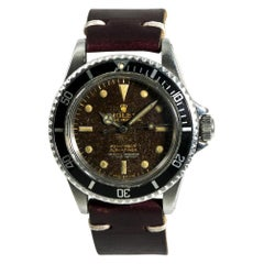 Rolex Submariner 5512 Men's Automatic Vintage Watch Tropical Gilt Dial