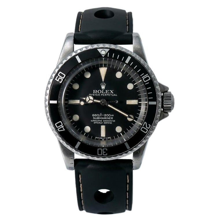 Rolex Submariner 5512, White Dial, Certified and Warranty For Sale