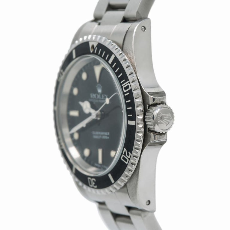 Men's Rolex Submariner 5513, Certified and Warranty For Sale