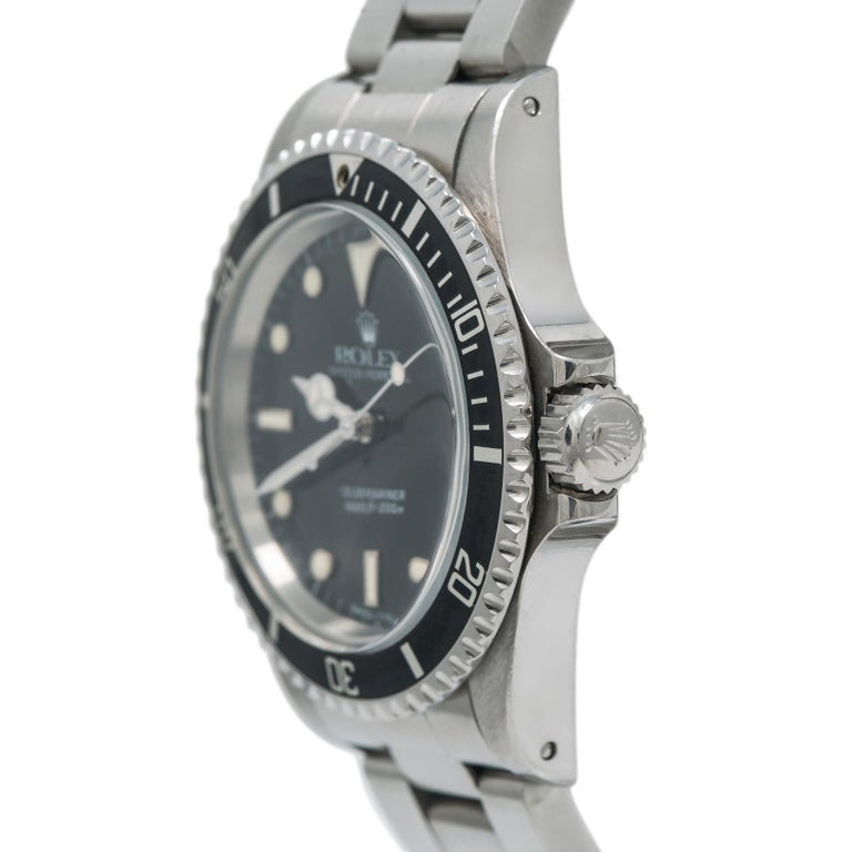Rolex Submariner 5513, Black Dial, Certified and Warranty For Sale 1